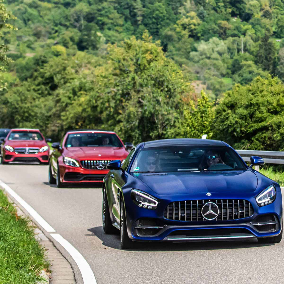Mercedes-AMG on the road during an Automotive Event