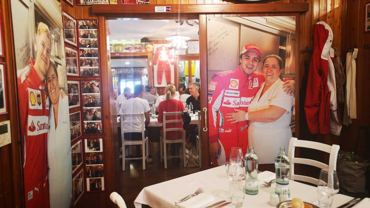 Ferrari genießen im Ristorante Montana