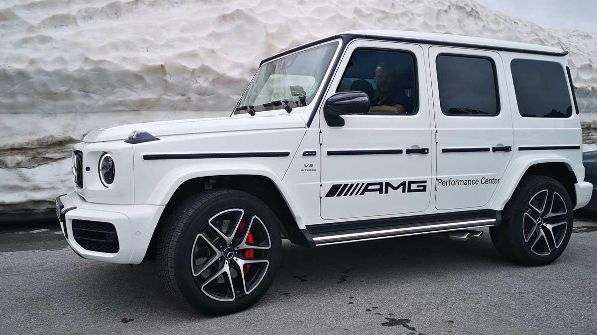 Am Timmelsjoch: Sportwagentour-Begleitung mit dem Mercedes-AMG G63