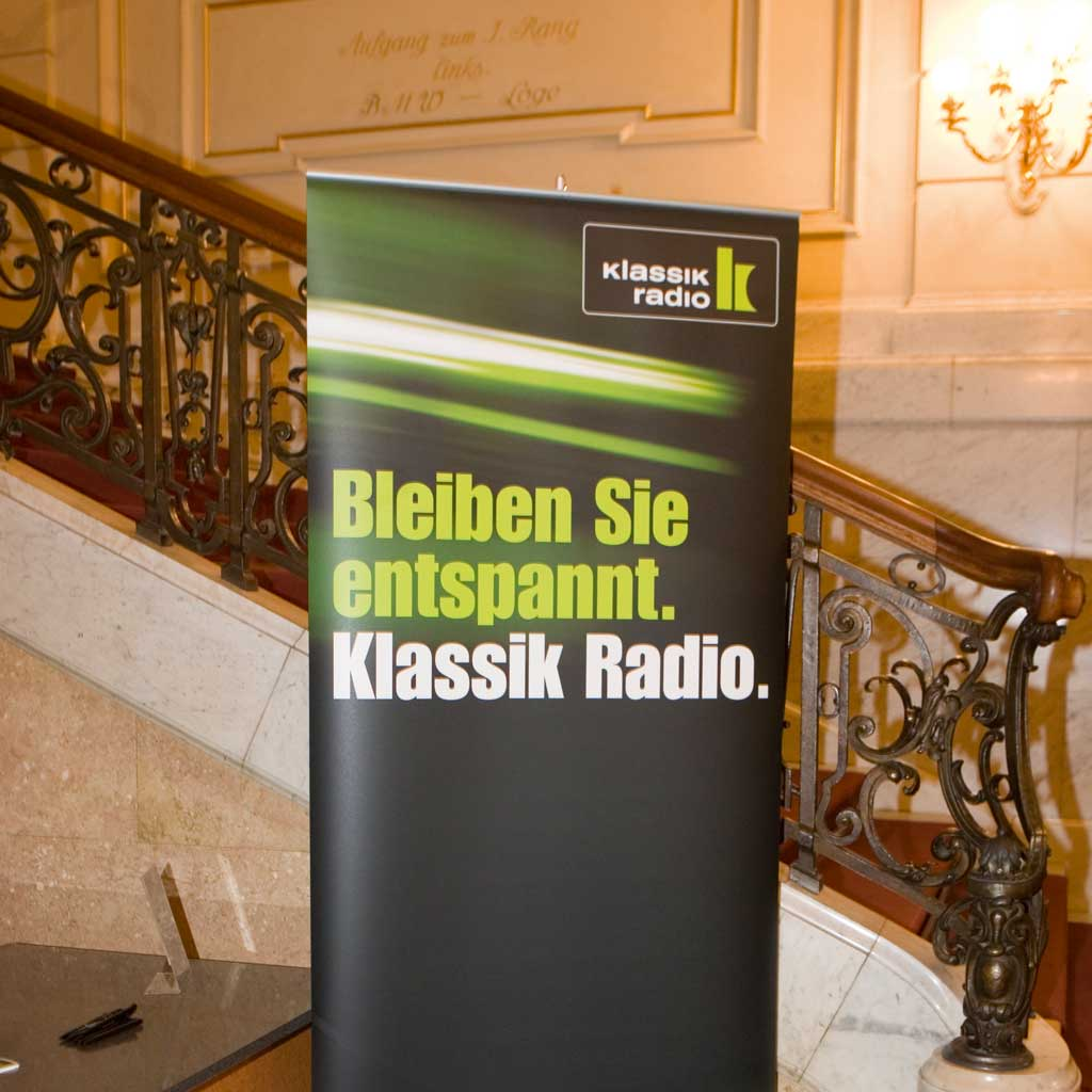 Public Event Klassik Radio, Hall management: live film music, modern classical music