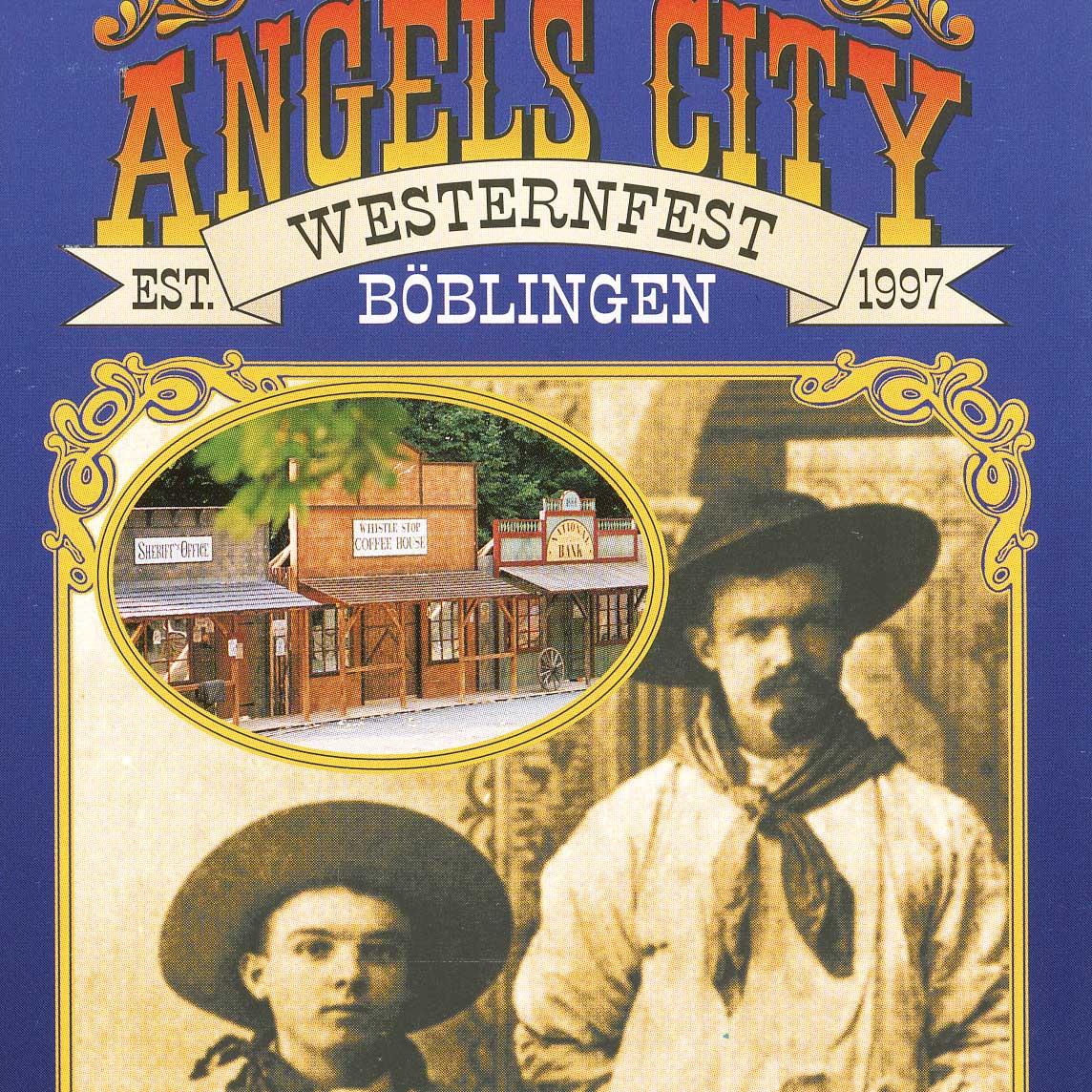 Public Event mit Westernstadt Angels City: Der Flyer