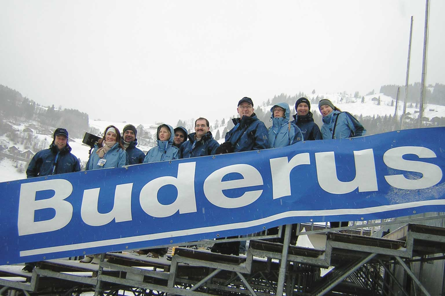 Team Buderus during the Four Hills Tournament