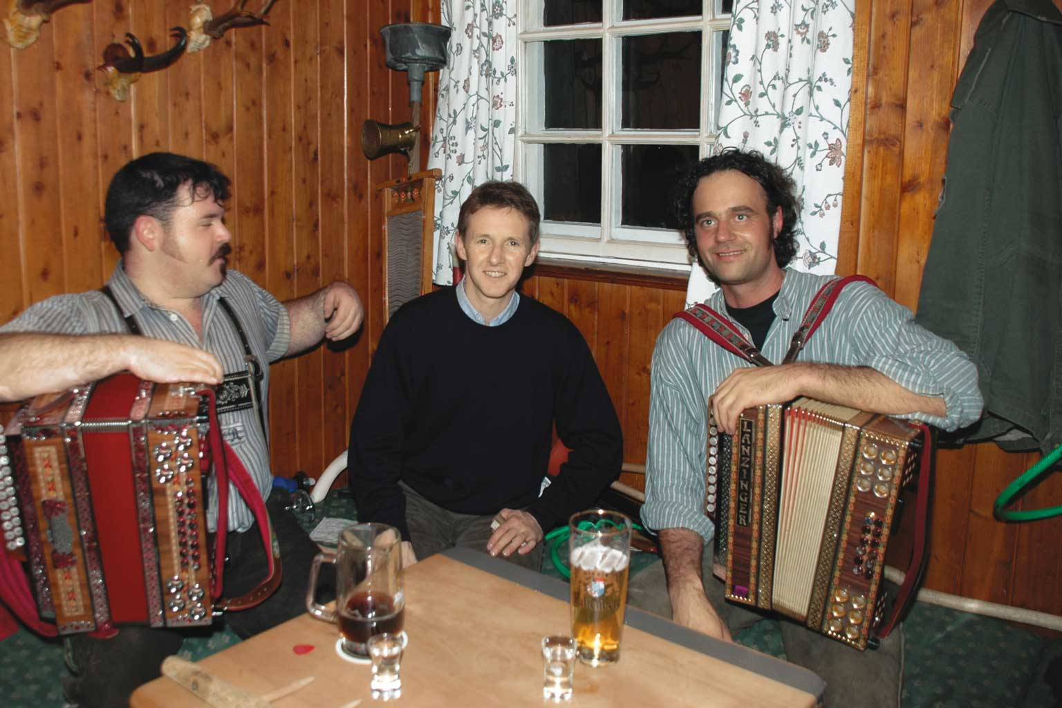 Team Event Four Hills Tournament Buderus Jens Weissflog and musicians
