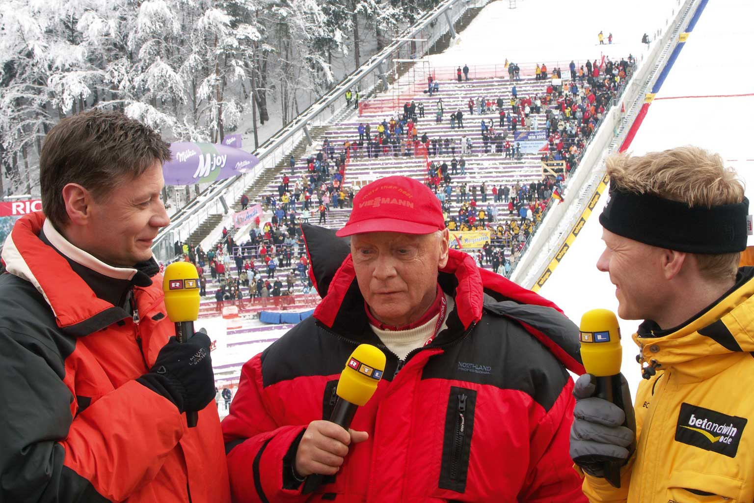 Team Event Four Hills Tournament Buderus Günther Jauch, Niki Lauda and Dieter Thoma